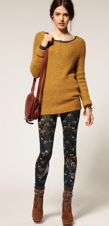 秋冬レギンスファッション