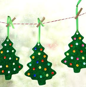 手作りクリスマスツリーガーランド