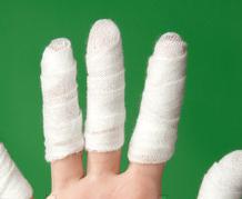 指を細くするテーピング方法