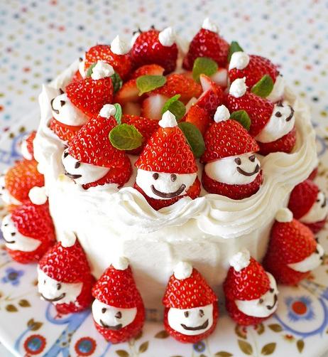 手作りいちごサンタショートケーキ