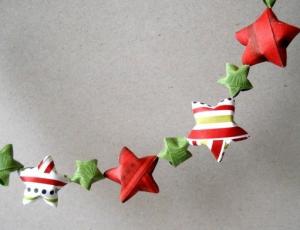 星クリスマスガーランド作り方