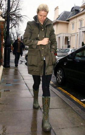 冬アーミージャケット着こなし