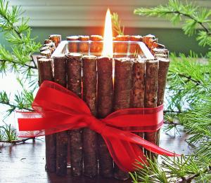 手作りクリスマスキャンドル作り方