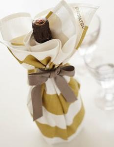 シャンパンボトルラッピング方法