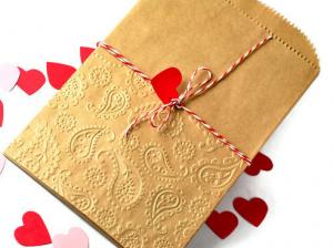 バレンタイン簡単ラッピング袋