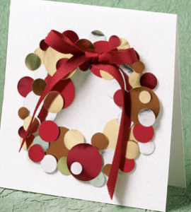 クリスマスメッセージカード作り方