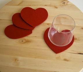 バレンタインコースター作り方