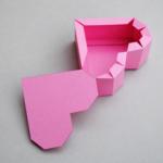 ハート箱作り方折り方