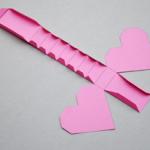 バレンタイン箱折り紙