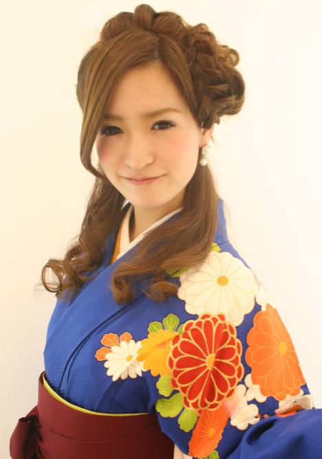 卒業式袴ロングハーフアップ