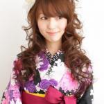 卒業式の振袖と袴に合うハーフアップ髪型アレンジ集