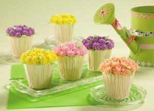 お花カップケーキデコレーション