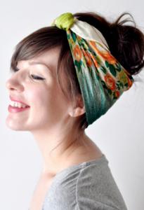 スカーフ髪型アレンジ