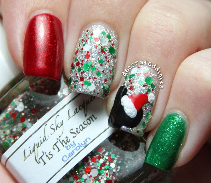 クリスマスネイルミッキーミニー