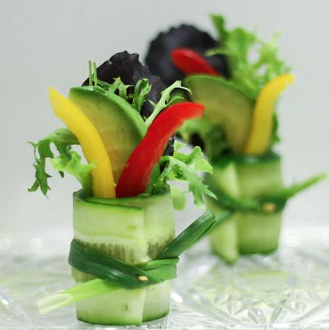 サラダ美しく盛り付ける方法